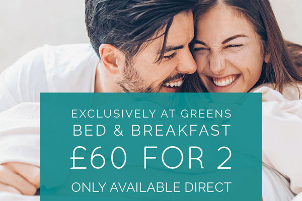 Winter B&B at Greens - £60 for 2