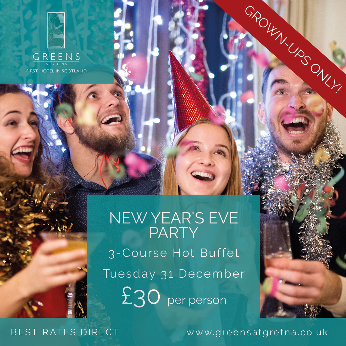 Greens New Years Eve Party Adults Only