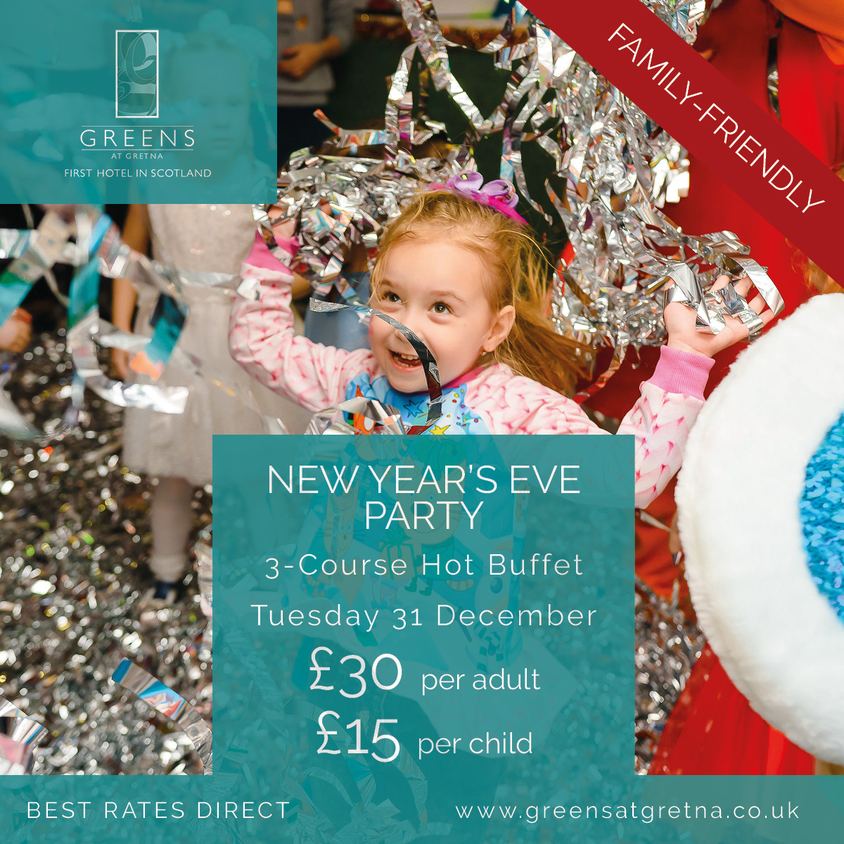 Greens New Years Eve Party Family Friendly