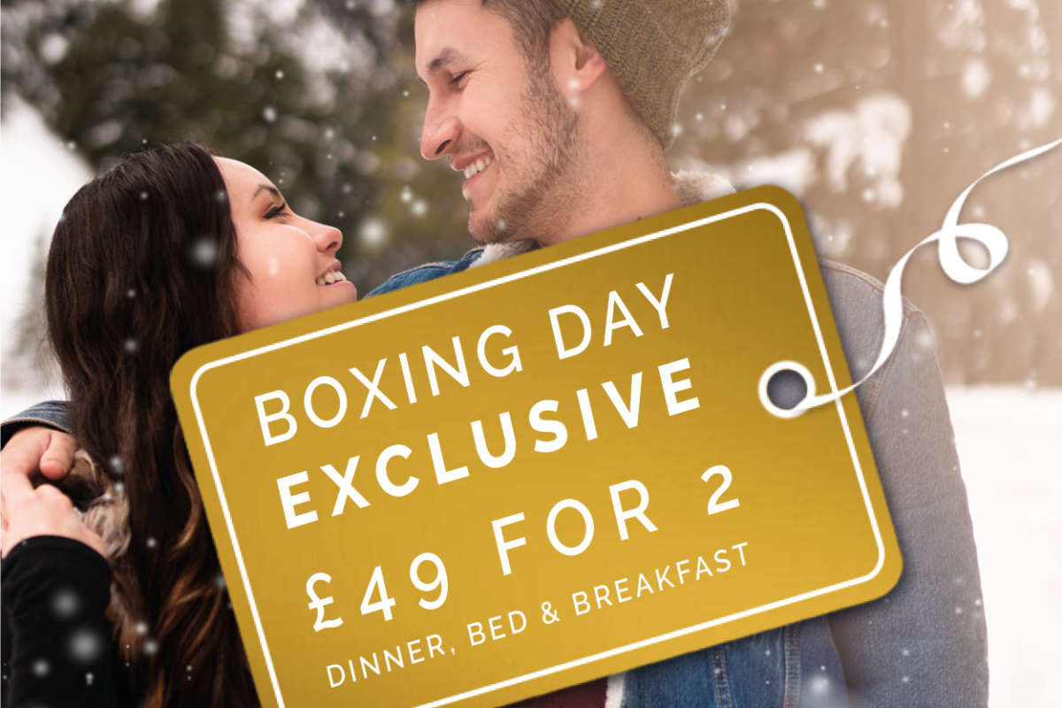 Boxing Day Exclusive Dinner, Bed & Breakfast £49 for 2
